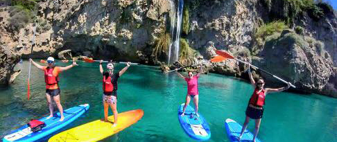 Paddle Surf Route in Nerja